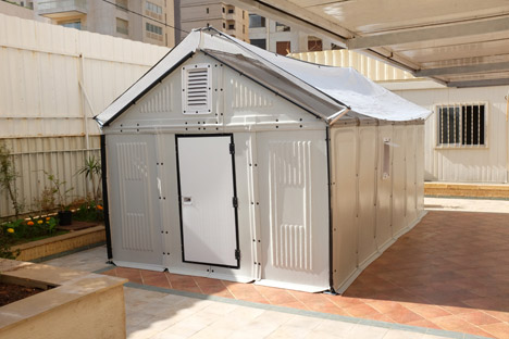 Flat-pack refugee shelters by Ikea