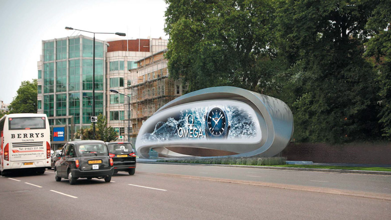 JCDecaux Advertising Sculpture by Zaha Hadid Architects