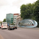 Zaha Hadid attempts to rethink roadside advertising with billboard design