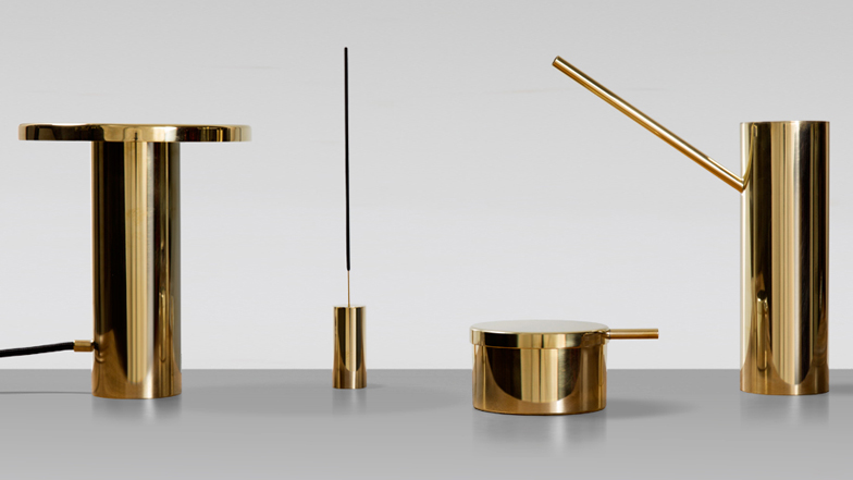 Lee west launches collection of modernist inspired brass objects