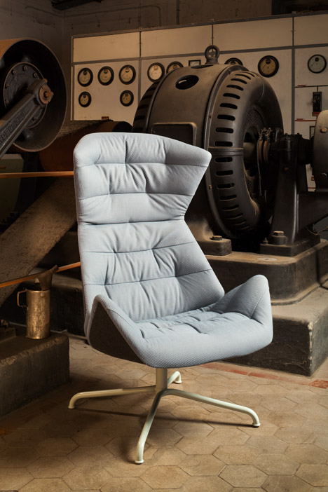 "Formstelle designs Lounge Chair 808 for Thonet with ""wave effect"" upholstery"