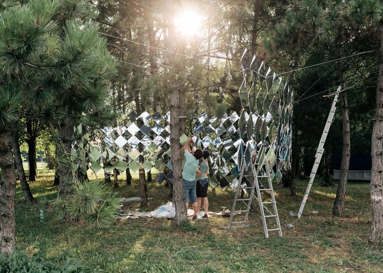 Mirage pavilion by Studio Nomad