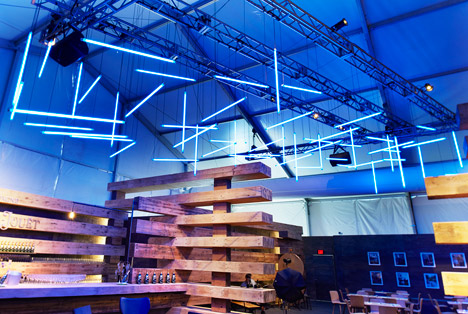 38 Beams at the Design Miami 2014 Collectors Lounge by Olson Kundig