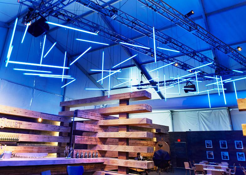 38 Beams at the Design Miami 2014 Collectors Lounge by Olson Kundig