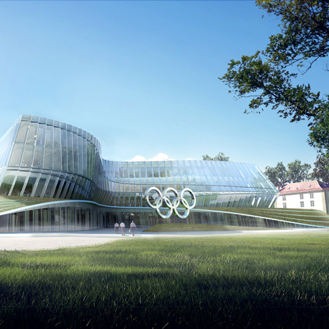 "3XN reveals ""dynamic, undulating"" design for Swiss Olympic headquarters"