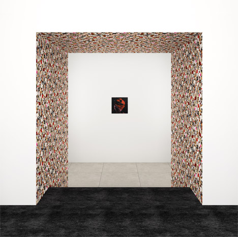 Guy Limone, Red, Black And Grey-White Tapestry, 2014. Andy Warhol, Human Heart, Circa 1979. Rendering courtesy of Peter Marino Architect, PLLC