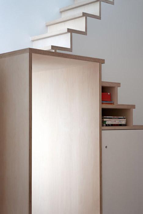 Plywood Trio Apartment by BUJ+COLÓN arquitectos