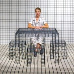 Patrick Parrish Gallery presents gridded furniture and matching clothing at Design Miami 2014