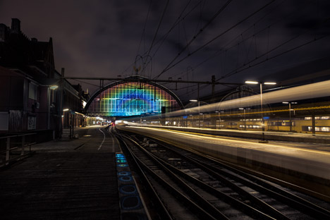 Rainbow Station by Daan Roosegaarde