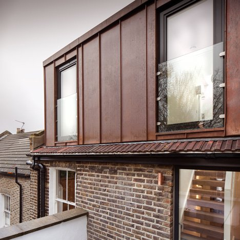 Poulsom Middlehurst adds copper-clad&ltbr /&gt extension to east London attic flat