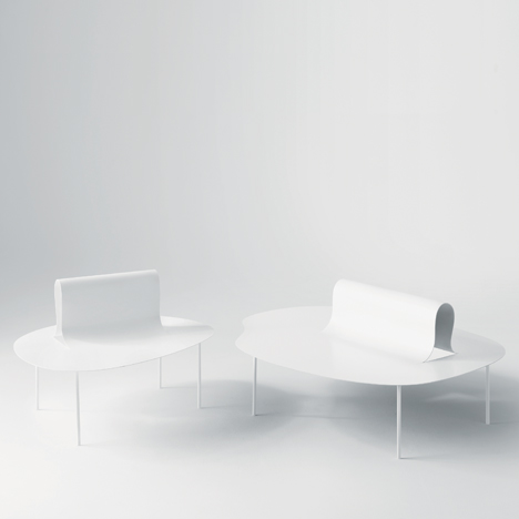 This image: Part of the Softer Than Steel Collection by Nendo. Main image: Zabuton armchair by Nendo for Moroso