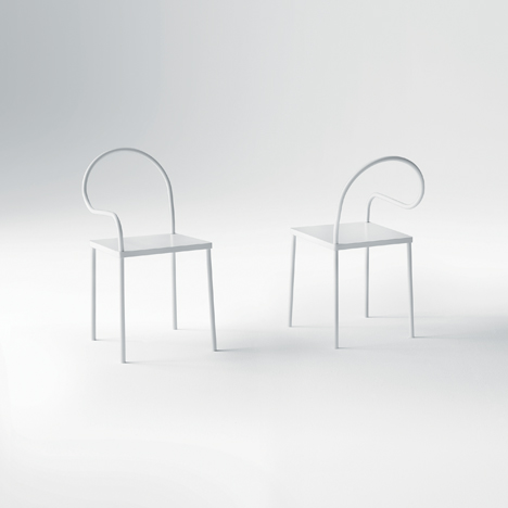 Chairs from Nendo's Softer Than Steel Collection