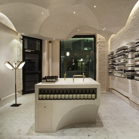 Snøhetta references religious architecture for Aesop's 100th store