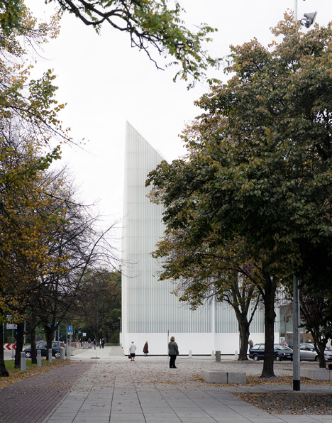 Translucent glass concert hall designed by Barozzi Veiga