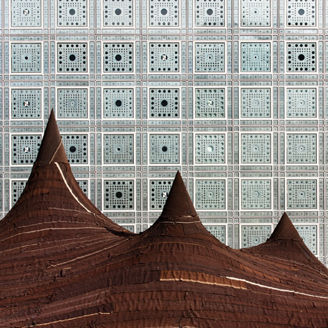 Kilo pitches giant camel-hair tent outside<br /> Jean Nouvel's Institut du Monde Arabe in Paris