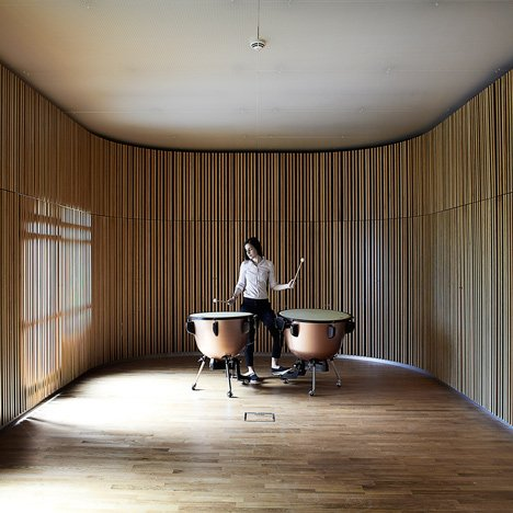 Adept creates timber-lined music rooms that each suit different instruments