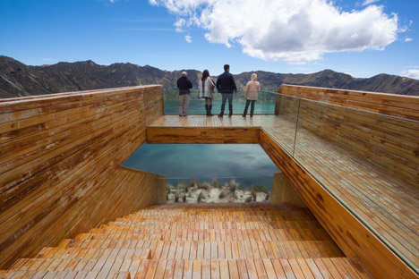 Volcano crater observation deck by Javier Mera, Jorge Andrade and Daniel Moreno