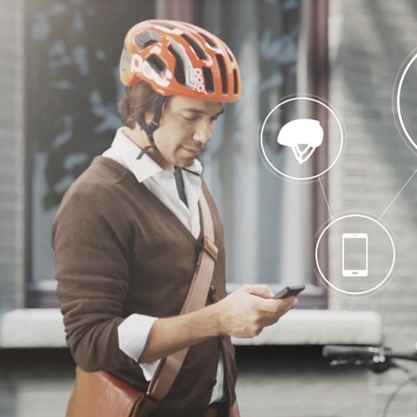 Volvo's connected helmet warns cyclists of car collisions
