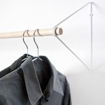 Fifti-fifti's Spring simplifies the wardrobe into a wall-mounted clothes rail
