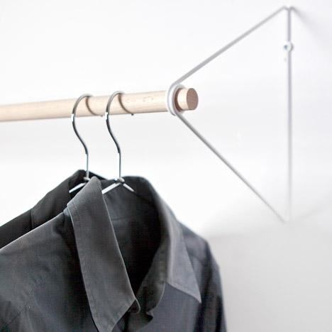 wall mounted clothes rail. Wall Mounted Clothes Rail I