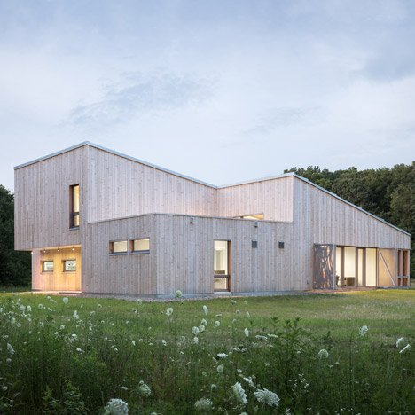Cedar-clad field station by Go Logic houses University of Chicago laboratory