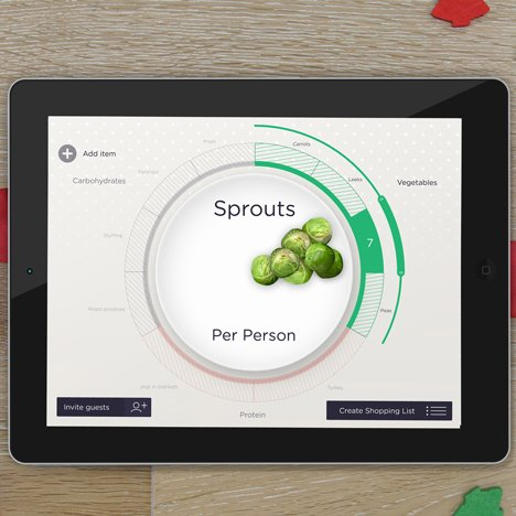 Seymourpowell's Waste-Free Christmas Dinner Maker is an app to tackle festive food waste