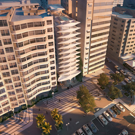 Zaha Hadid's first Brazilian building designed for Copacabana Beach