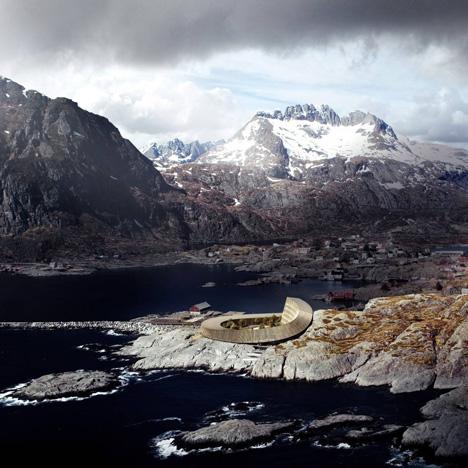 Lofoten Opera Hotel, Norway, by Snøhetta