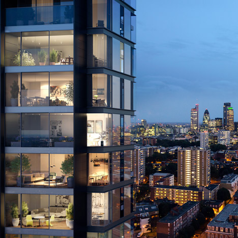 Foster's London towers to feature one bike parking space per bedroom