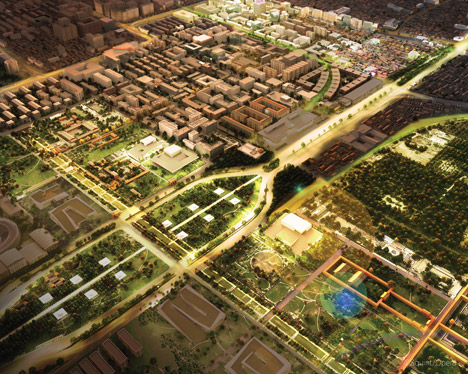Beijing Tianqiao (Sky Bridge) Performing Arts District Master Plan; Beijing, China, by SOM