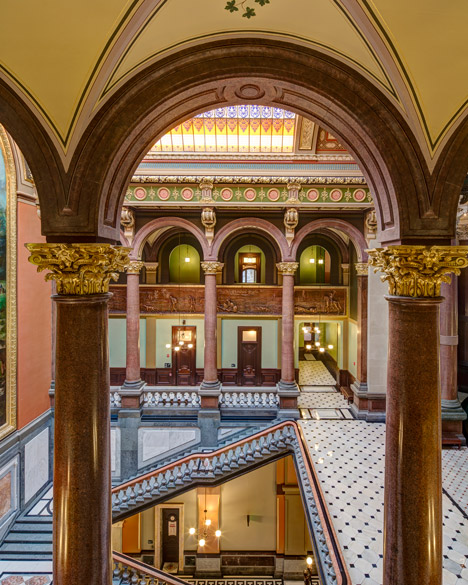 Illinois State Capitol West Wing Restoration; Springfield, Illinois, by Vinci Hamp Architects