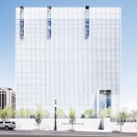 Thomas Phifer's United States Courthouse is covered in vertical sun shades