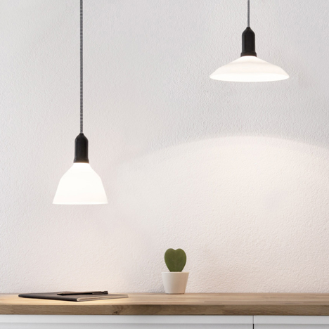 Renaud Defrancesco's LED lightbulbs are shaped like lampshades