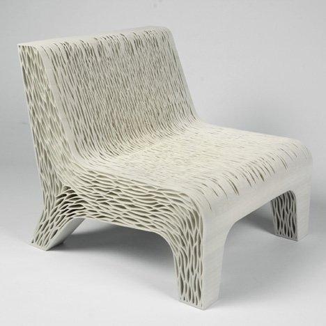 "Lilian van Daal's 3D-printed Biomimicry chair shows off ""a new way to create soft seating"""
