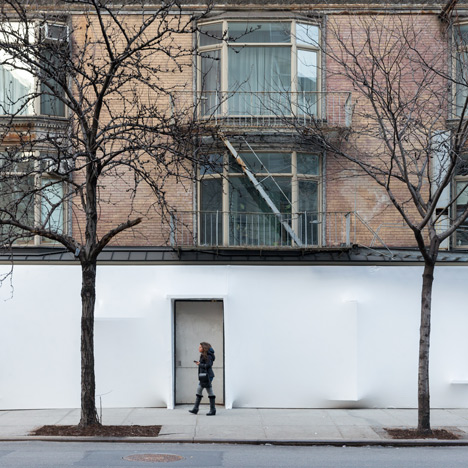 SO-IL wraps white plastic around New York's Storefront gallery