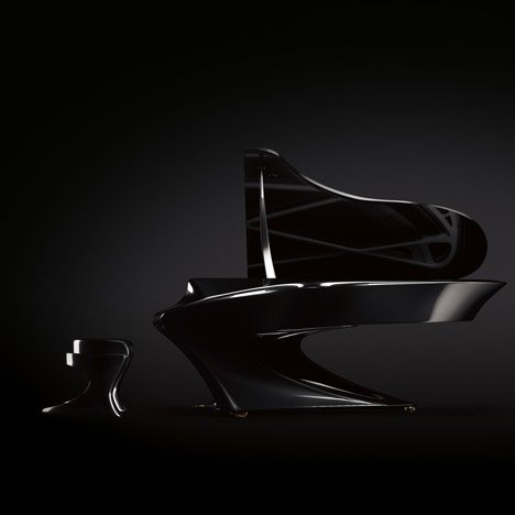 Musician Gergely Bogányi offers a curvaceous take on the traditional grand piano