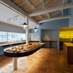Old timber-framed house transformed into a bakery by Movedesign