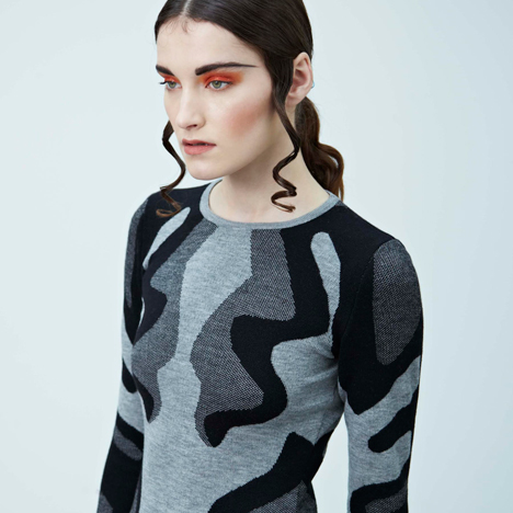 Brooke Roberts turns brain scans into knitwear patterns