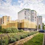CUT Architectures adds golden walls to 1960s community centre