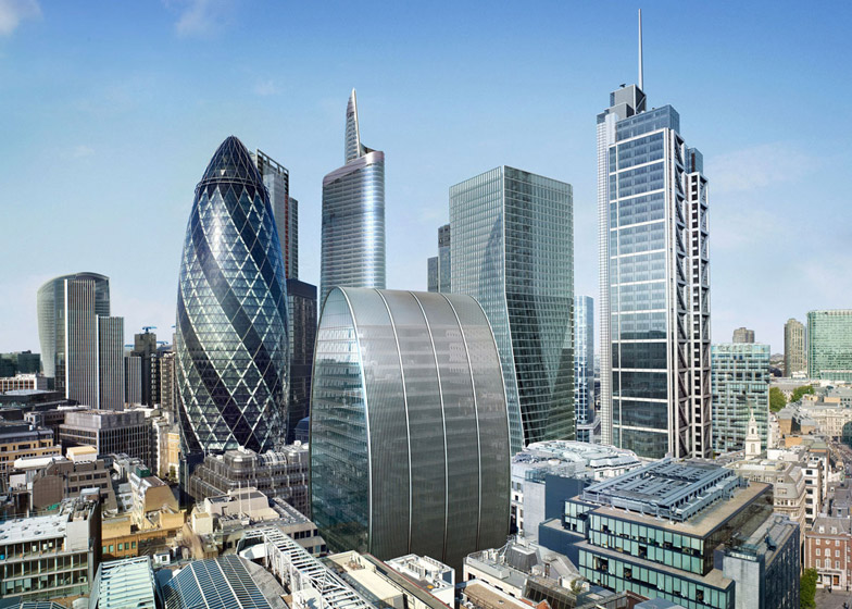Londons Can Of Ham Skyscraper Back On After Six Year Hiatus - London-gherkin-an-unusual-eggshaped-building