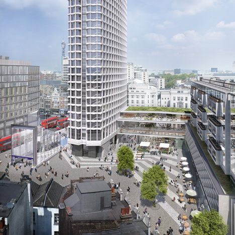 Work starts on public plaza beneath Richard Seifert's Centre Point