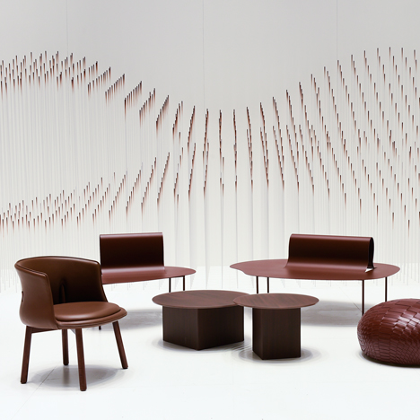 Nendo creates chocolatey waves for Maison&Objet installation