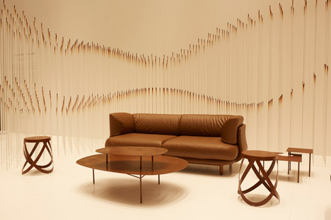 Chocolatetexture installation by Nendo at Maison&ampObjet 2015