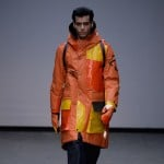 Christopher Raeburn transforms a life raft into brightly coloured coats