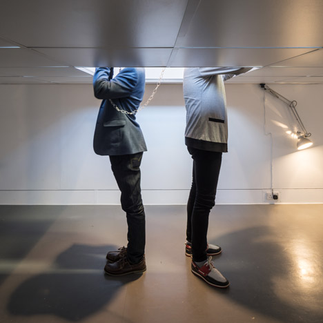 Aberrant's styrofoam ceiling installation celebrates wasting time at work