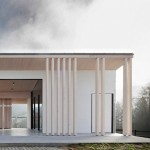 Funeral chapel by Tria Studio brings gentle winds through its hollow centre