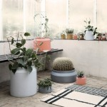 Ferm Living adds graphic textiles and rubber coated vessels to homeware collection