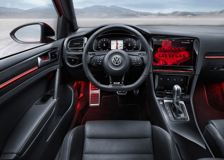 Golf R Touch by Volkswagen at CES 2015