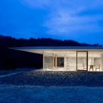 Hiroshima Hut by Suppose Design Office is a see-through house with sunken rooms