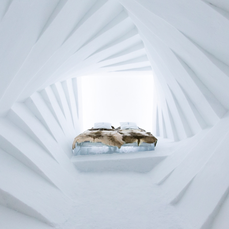 Icehotel's 25th edition includes a square vortex suite